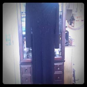 Carole Little beaded long sweater dress